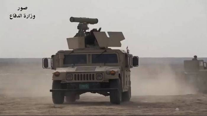 "In Iraq, noticed the American ""Humvee"" with the Russian ""Cornet"""