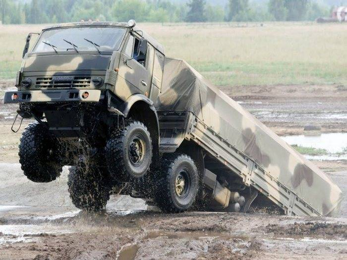 "In the Central Military District received a batch of all-wheel drive KamAZ ""Mustang"""