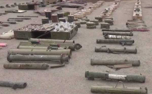 アブケマルで発見された対戦車兵器を備えたIgilovsky備蓄