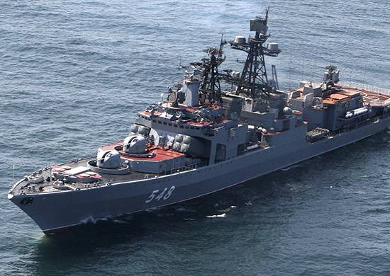 Crews of 70 ships of the Russian Navy will meet the New Year in the ocean