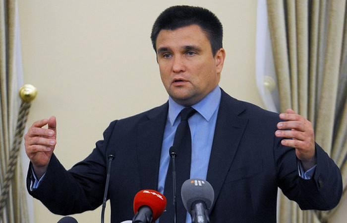 Klimkin은 크림에 서방 기업을 운영하겠다고 위협했습니다.
