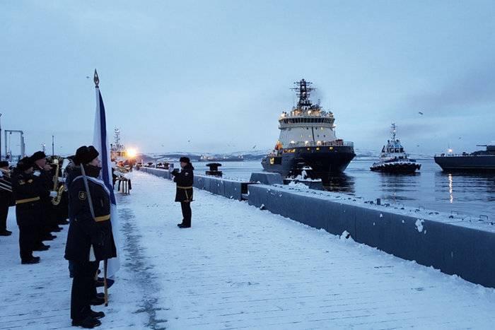 """쇄빙선 """"일리아 Muromets""""는 북부 함대에 도착"""