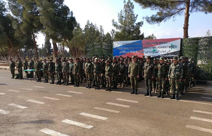 L'esercito russo ha preparato altri 93 genieri siriani