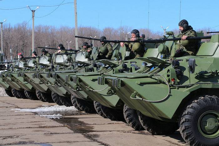 New BTR-82A entered service with the training center of the Central Military District