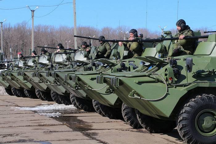 Yeni BTR-82A, Merkez Askeri Bölge'nin eğitim merkezi ile hizmete girdi
