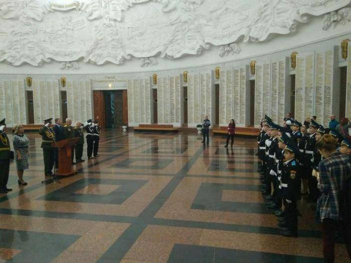 Moscow cadets took oath in the Hall of Military Glory