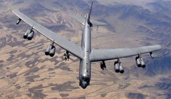 Three strategic bomber B-52H transferred from the USA to Britain