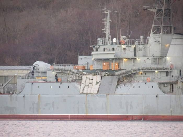 "The landing ship ""Yamal"" returned to Sevastopol from the Mediterranean with damage"