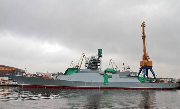 Severnaya Verf Shipyard:係留試験の準備が整ったサンダーリングコルベット
