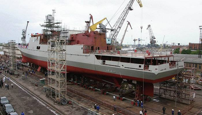 Three frigates of the 11356 project will be completed for the Russian Navy