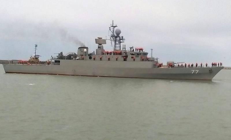 Авария иранского эсминца вКаспийском море: Причина втехнических проблемах