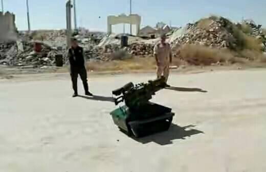 Um sistema robótico de combate testado na Síria