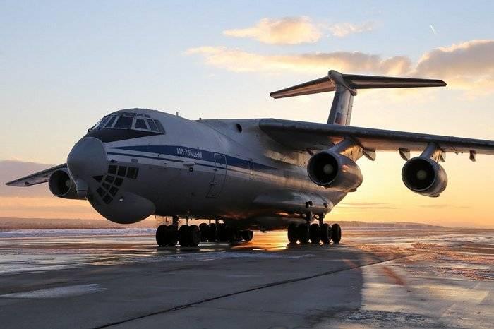 El Ministerio de Defensa ruso recibirá la primera serie IL-76MD-M hasta finales de enero.