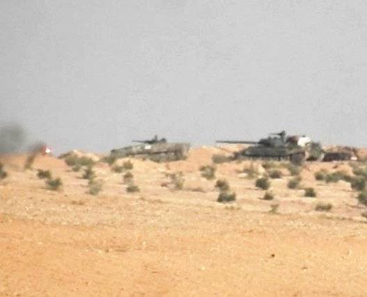 Militants succeeded in completely blowing up the Syrian army's T-62