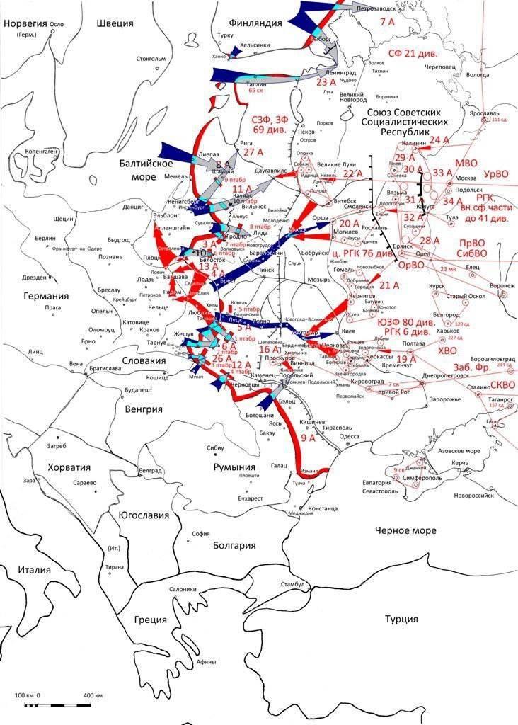 1941-Kampagne des Jahres: Die Pläne der Parteien und die Gründe für die Niederlagen
