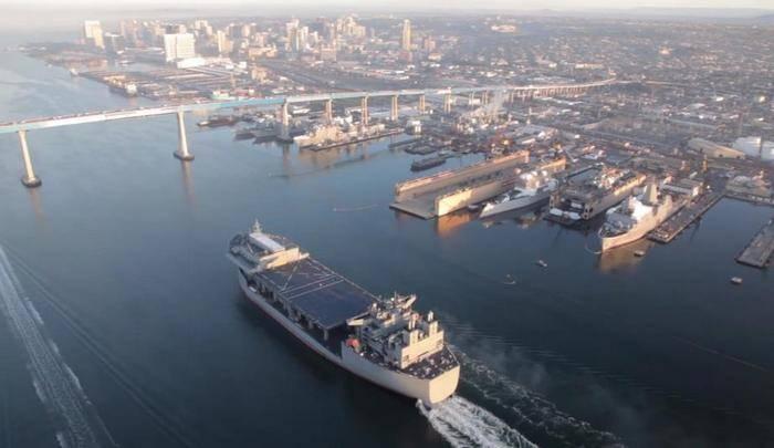 Экспедиционная морская база USNS Hershel «Woody» Williams ESB4 вышла на ходовые испытания
