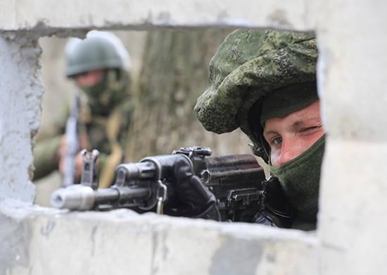 Spetsnaz bloqueó el avance del grupo de sabotaje en el ejercicio en la región de Kursk