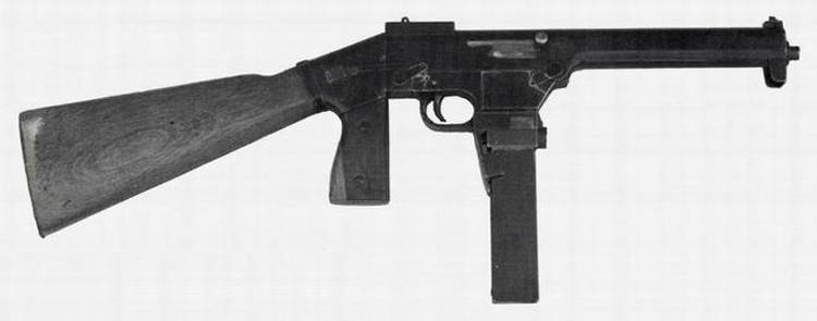 Submachine gun SACM Modèle 1939 (France)