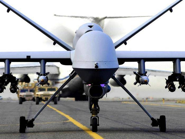 American drone drone placed in Poland