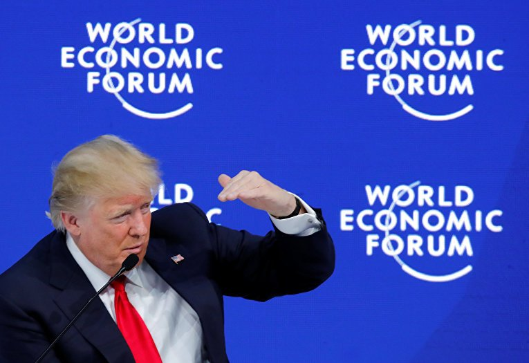 First impressions of the speech of Donald Trump in Davos