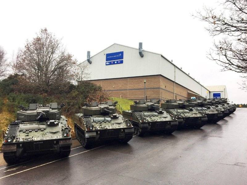 British army transferred the first upgraded BMP Warrior 2