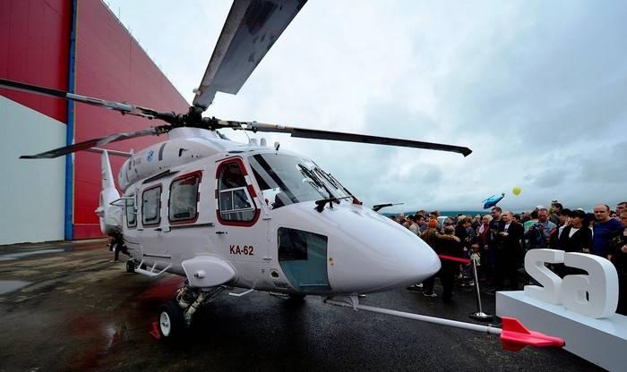 新的Ka-62底盘将允许登船