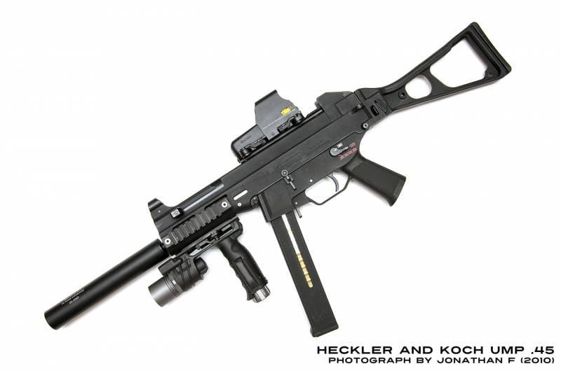 Оружие. Самое мощное стрелковое оружие. Часть 2. Пистолет-пулемёт UMP45 под патрон .45 ACP