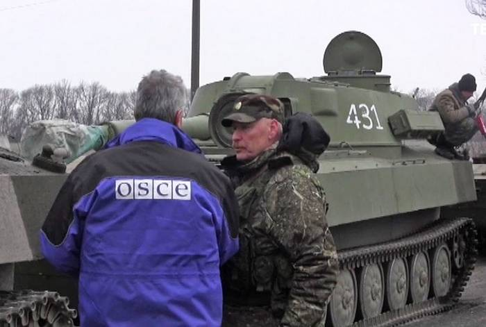 In the OSCE, Kiev declared a violation of the treaty on the withdrawal of weapons in the Donbass