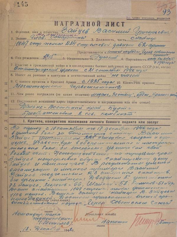 スターリングラードの戦いでの勝利の75記念日。 ロシア連邦国防省は、多数の記録文書を発表しました。
