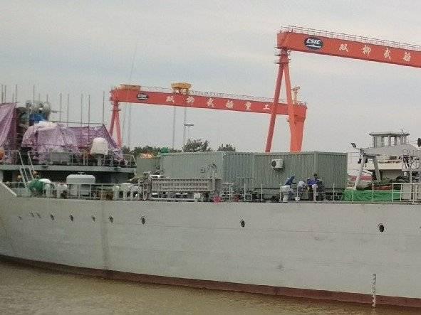 En Chine, testera le nouveau canon de navire