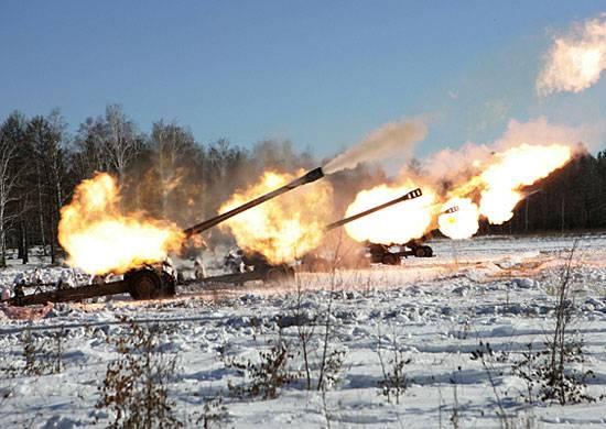 A Transbaikalia è stata condotta una prova di formazioni di artiglieria.
