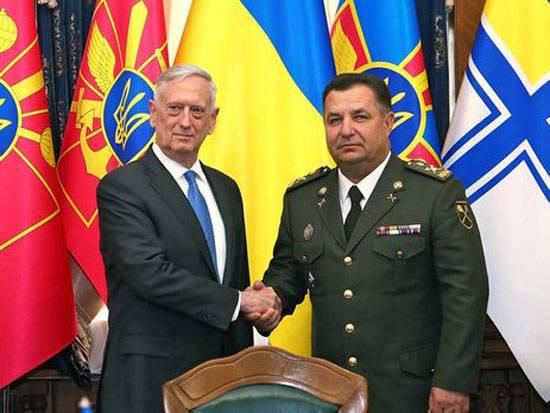 Poltorak à Washington a reçu du directeur du Pentagone des directives sur la réforme militaire
