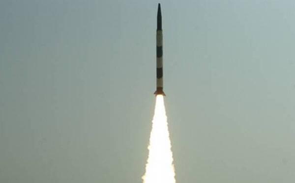 Индия провела испытание модернизированной версии баллистической ракеты Agni-I