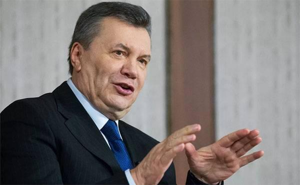 Янукович обратился к украинцам накануне годовщины майданных потрясений