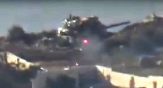 Kurden schlugen einen anderen türkischen Panzer