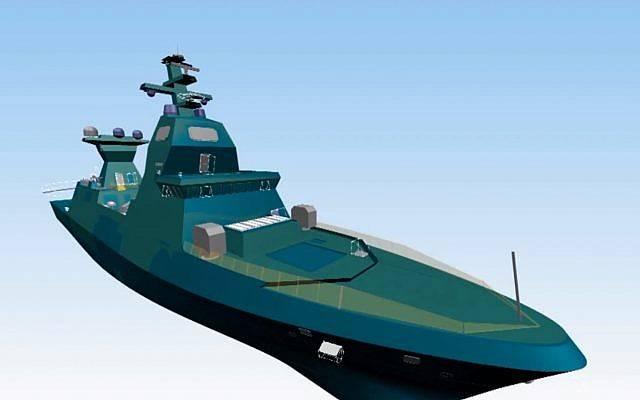 В ФРГ начато строительство головного корвета Saar 6 для ВМС Израиля