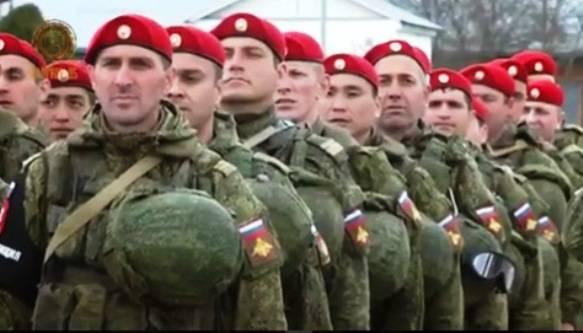 Un batallón de policías militares regresó a Chechenia desde Siria.
