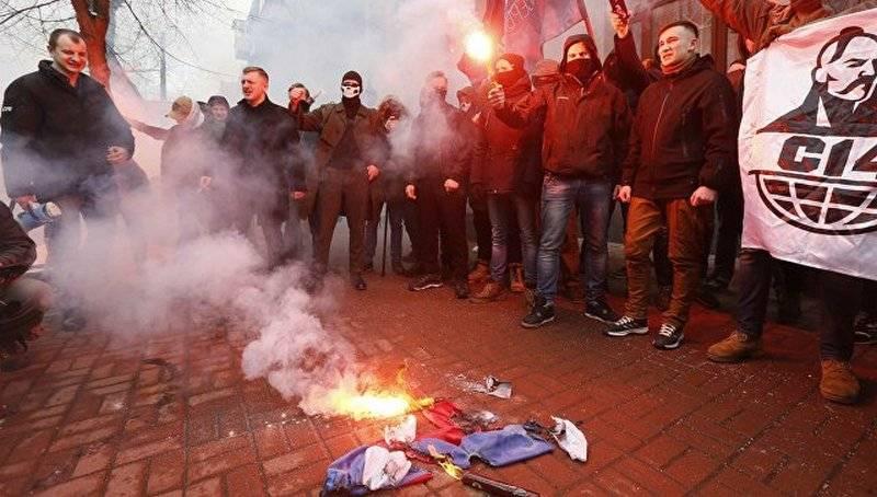 Kiev'de, radikal bina Rossotrudnichestvo binaya girdi