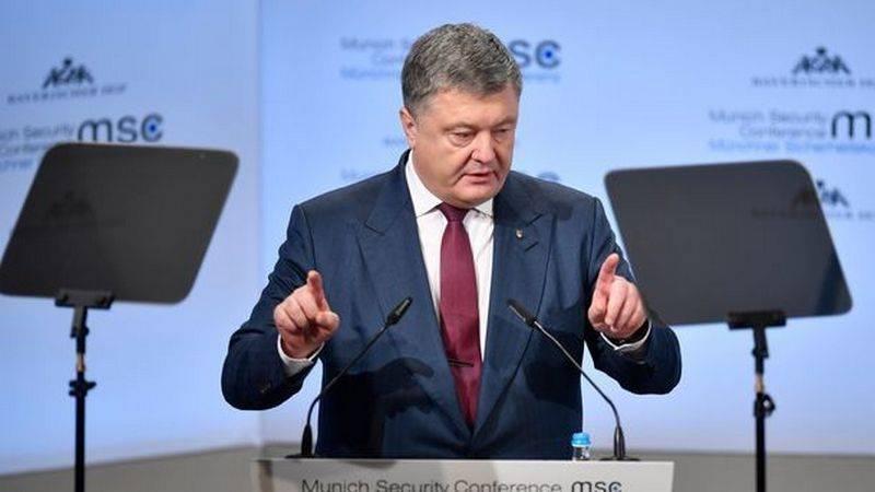 """Porochenko: pour l'introduction de soldats de la paix dans le Donbass, il faut """"serrer"""" la Russie"""