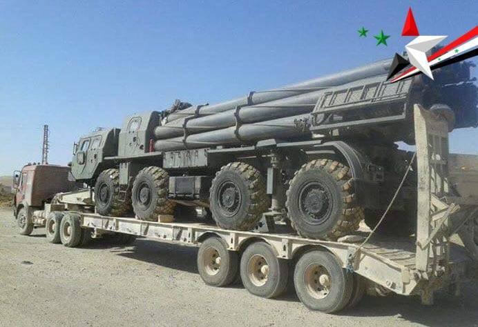Армия САР задействует под Дамаском РСЗО «Смерч» и комплексы «Точка»