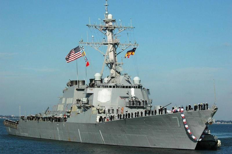 Российский адмирал прокомментировал появление американских эсминцев на Черном море