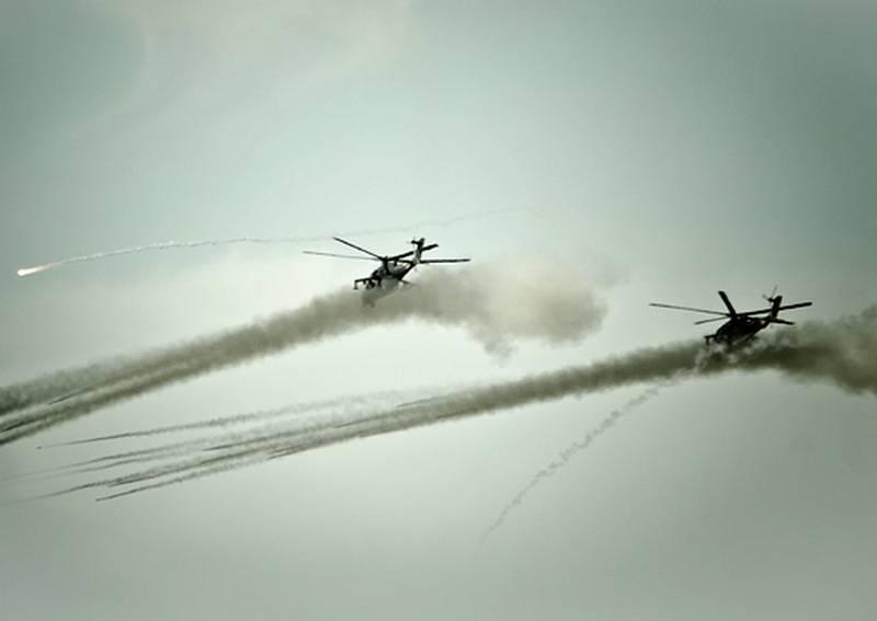Egzersizler sırasında Kuban dağlarında 20'ten fazla helikopter test edildi
