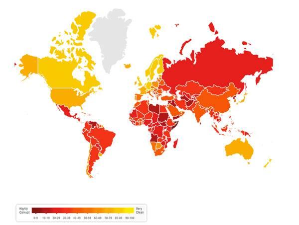 Transparency International назвал Россию и Украину самыми коррумпированными странами Европы