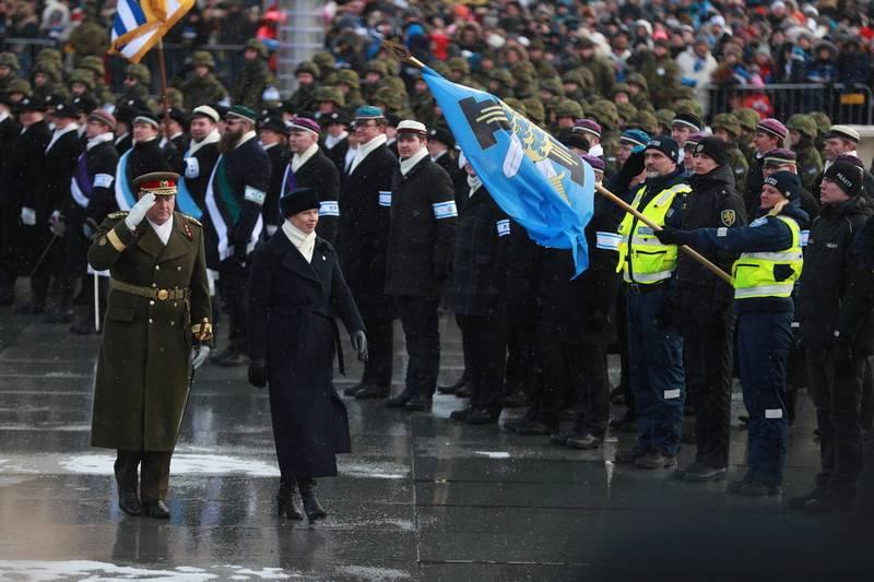 El desfile de las Fuerzas de Defensa de Estonia tuvo lugar en Tallin.