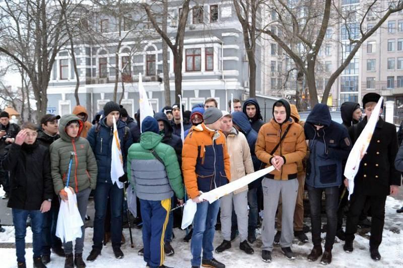 В Одессе задержали подростков на акции в честь 23 Февраля
