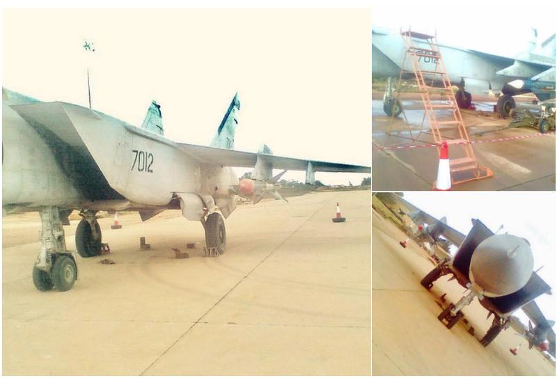 Na Líbia, notei o MiG-25