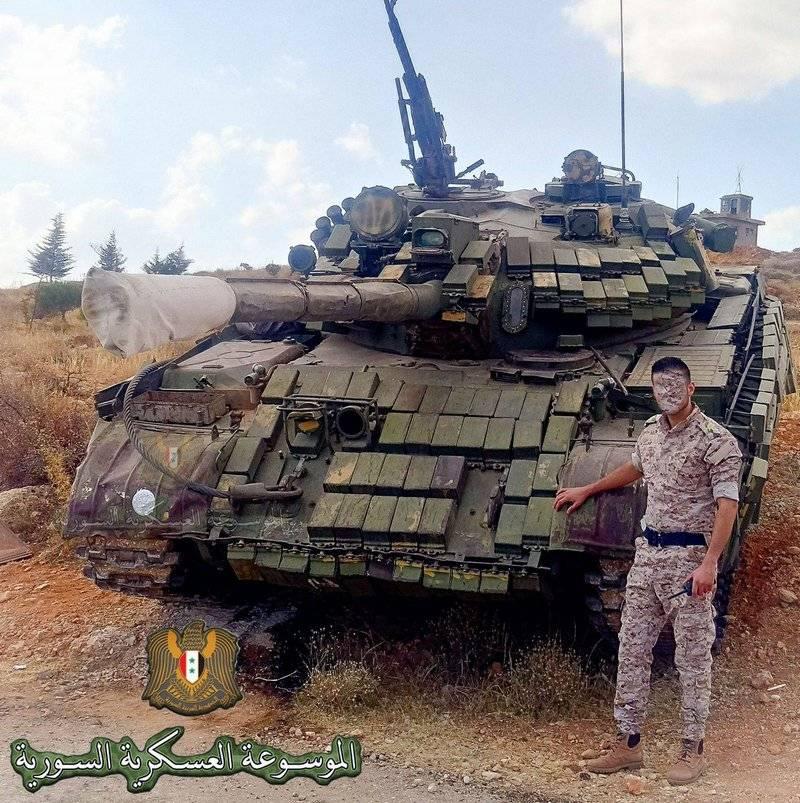 """Navios de guerra"" soviéticos T-55MV transferidos para a área de Damasco"