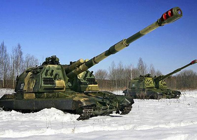 """Die Charge von ACS 2S19 """"Msta-S"""" gelangte in den südlichen Militärbezirk"""