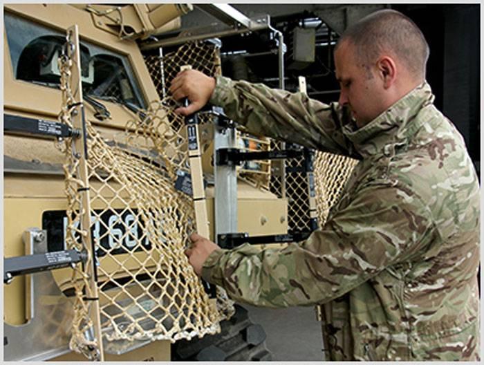 Telas de malha para veículos blindados AmSafe Tarian (UK)