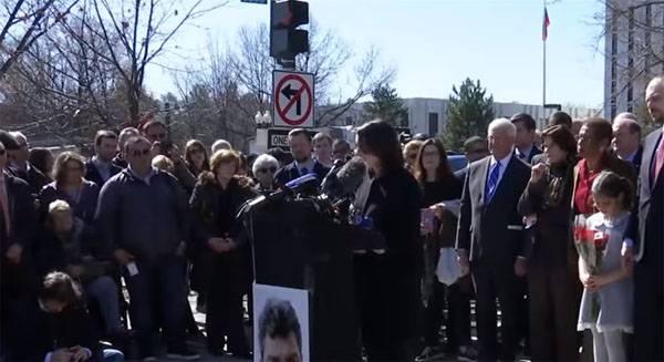 В Вашингтоне открыли площадь Бориса Немцова перед посольством России